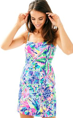 f5980bfa33f77a Lilly Pulitzer Shelli Stretch Shift Preppy Look, Summer Dresses For Women,  Stretches, Stretch