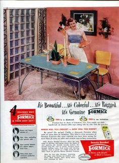 Hey, I found this really awesome Etsy listing at http://www.etsy.com/listing/154284081/1950s-formica-kitchen-and-dining-ad