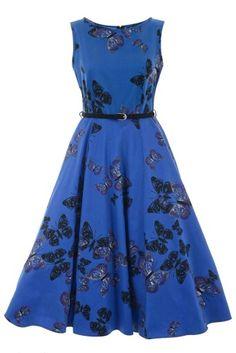 Black & blue butterfly dress