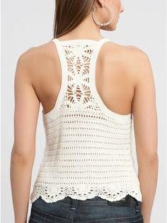 Crochetemoda: Top Branco de Crochet