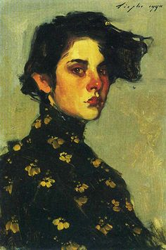 Malcolm T. Liepke (b. 1953), oil on canvas, 1990 {figurative art female red-nosed woman face portrait painting #loveart}