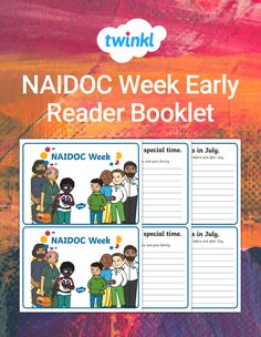 This resource is a great way to develop the reading and comprehension skills of your junior primary students while teaching them about NAIDOC Week. Students will read this book about NAIDOC Week while completing simple activities on each page. Add this book to your guided reading activities! Naidoc Week, Guided Reading Activities, Early Reading, Comprehension, Booklet, Encouragement, This Book, Students, Teaching