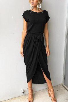53117f48755dcd I Want It All Short Sleeves Maxi Dress. Shyoin
