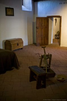 Cell of Saint Teresa when she was prioress in the Carmelite Convent of La Encarnacion, where Saint Teresa was prioress, in Avila Spain