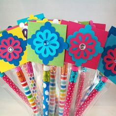 Pencil Treat Bags and Toppers
