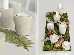 Concrete votives. Making a ton of these for the Christmas party tables.