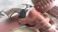 "The Cowboy Holster. This one is a righthand crossdraw. The most authentic 1880's style  ""Mexican Loop"" holster available."