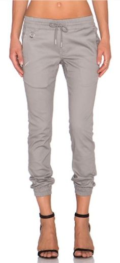 Grey joggers. I want a pair! They would be perfect for the lazy but casual day!