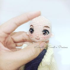 embroidered doll eyes - idea