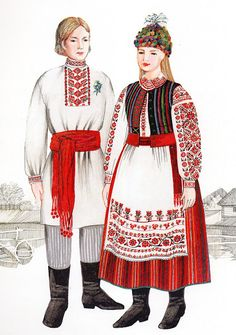 FolkCostume&Embroidery: Costume of West or Volyn' Polissia, Ukraine