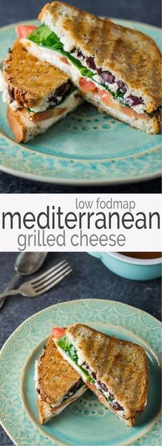 Serve one or many with this easytomake Low Fodmap Mediterranean Grilled Cheese recipe Full of color and flavor these gluten free and vegetarian sandwiches will quickly be. Dieta Fodmap, Fodmap Diet, Fodmap Foods, Mediterranean Diet Recipes, Mediterranean Dishes, Mediterranean Appetizers, Falafel Vegan, Queso Fundido, Grilled Cheese Recipes