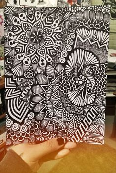 This is a photo of a hand drawn design made in sharpie on Bristol board. The print is will be on quality 8 by 10 paper!