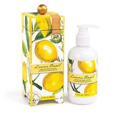 Michel Design Works | Lemon Basil Collection Lemon Basil Our popular pairing of two quintessential summer aromas conjures lazy, sunny afternoons and soft magical nights. Scent: Fresh Lemon & Basil