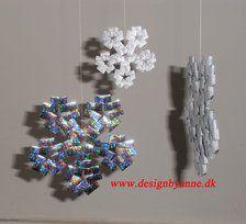Femkantede iskrystaller i candywrap - snowflakes