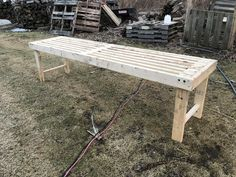 How To Build a Greenhouse Bench For Under 20 Dollars – two branches homestead Greenhouse Benches, Greenhouse Shelves, Heating A Greenhouse, Lean To Greenhouse, Backyard Greenhouse, Harvest Season, New Builds, Outdoor Projects, Picnic Table