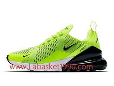 best website 5dc1a 258f6 Nike Air Max 270 Chaussures Officiel Basket Pas Cher Pour Homme Vert Noir  AH8050-701