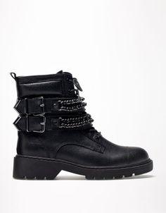 Bershka Turkey - Bershka chain detail ankle boots