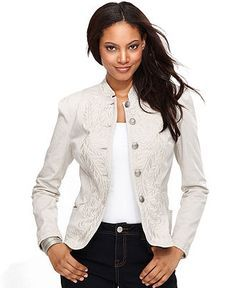 INC International Concepts Jacket, Embroidered Band - Jackets & Blazers - Women - Macy's