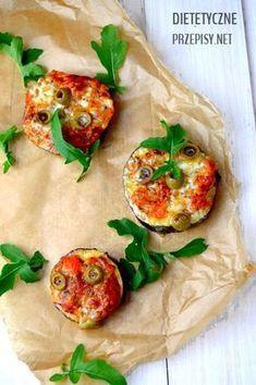 dietetyczne mini pizze z bakłażana