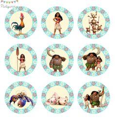 Moana Birthday Party Theme, Moana Theme, Moana Party, Disney Birthday, Maui, Hawaii, Moana Cupcake Toppers, Happy Birthday Printable, Invitation