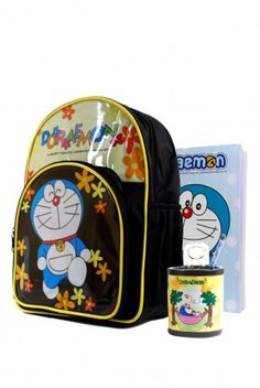 Your child's much loved Doraemon cartoon character famous for his TV shows and movies, comes alive in this back-to-school pack available on on Skoolshop.com. Looking to buy a Doraemon school bag and accessories online? Look no further with this pack which is perfect for your school going child.