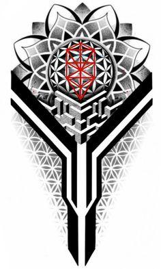 Forearm Band Tattoos, Leg Tattoos, Sleeve Tattoos, Tattoos For Guys, Geometric Tattoo Sleeve Designs, Full Sleeve Tattoo Design, Tattoo Designs, Dotwork Tattoo Mandala, Mandala Tattoo Design