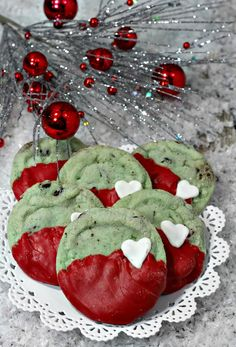 Grinch Cookies - Mint Chocolate Chip Cookie Recipe