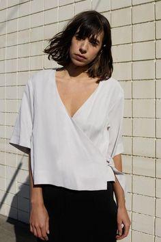 Kimono Wrap Top in Stone | Waltz