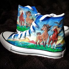Custom handpainted sneakers Spirit Stallion of the by MadCandies