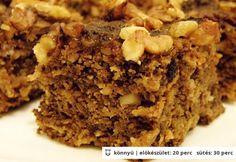 Almás-diós kocka cukormentesen Diabetic Recipes, Diet Recipes, Cooking Recipes, Healthy Recipes, Healthy Cake, Healthy Cookies, Fall Desserts, Vegan Desserts, Diet Cake