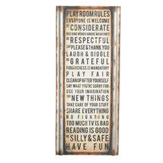 Playroom rules-Ironaccents.com