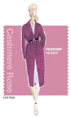 Lela Rose in Pantone Cashmere Rose - FALL 2015 PANTONE's FashionColorReport