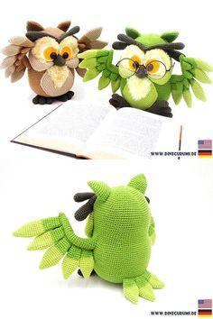 Amazing Crochet Owl Amigurumi Pattern. Affiliate Link. #crochetowl #crochetpattern #crochetowlpattern #crochetamigurumi #crochetowlamigurmi
