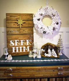Lighted Paper Snowflake Wreath & Mason Jar Snow Globes featuring Laura from Corner House {Handmade Holidays Project No. 25} - bystephanielynn