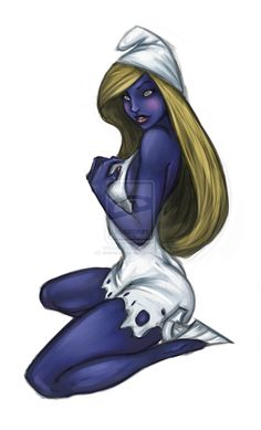 Smurfette Coloured - Based on J. I need to practise more! Smurfette in Colour Smurf Village, Smurfette, Costume Contest, Night Skies, Adult Coloring, Smurfs, Animation, Cosplay, Deviantart