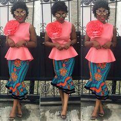 Stylish Material Top Design With Amkara Skirt Styles For Stylish African Ladies 2018 - DeZango Fashion Zone