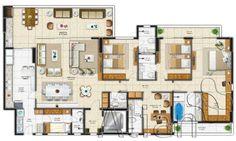 planta baixa casa com 4 suítes, lavabo e sala intima com 120m² - Pesquisa Google
