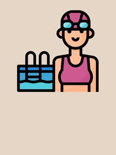 'Cute Swimmer Girl Hobby Avatar' T-Shirt by passionemporium Avatar Cartoon, Cute Boys, Personalized Gifts, First Love, T Shirt, Fictional Characters, Supreme T Shirt, Tee Shirt, Customized Gifts
