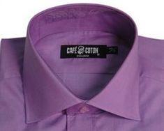 The collar on the man's shirt