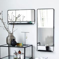 Lustro z półką - agamartin.com - Design Skandynawski, Meble Skandynawskie, Duńskie, Industrialne, Retro, Vintage, Organic, Fabryczne