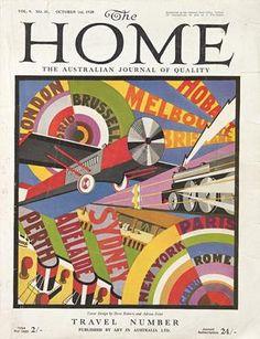 Constructivist style moves to Australia: The Home magazine, October, 1928.