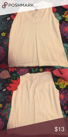 White Ralph Lauren top. White Ralph Lauren shirt. The size is large. Ralph Lauren Tops