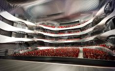 A runner-up to Zaha Hadid Architects' winning design for the new Changsha Meixihu International Culture & Art Centre, Coop Himmelb(l)au's design for the sam Auditorium Design, Chinese Opera, Changsha, Theatre Design, Zaha Hadid Architects, Himmelblau, Cultural Center, Concert Hall, Architectural Elements