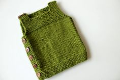Knitted baby vest!  Free pattern on ravelry.  Better get going, only size 6-12 months