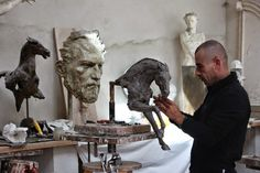 Christophe Charbonnel, 1967 | Figurative sculptor | Tutt'Art@ | Pittura * Scultura * Poesia * Musica | Modern Sculpture, Sculpture Clay, Traditional Sculptures, Sculpture Lessons, French Sculptor, Horse Art, Amazing Art, Sculpting, Art Projects