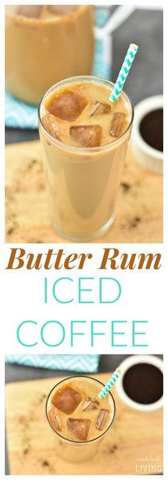 Butter Rum Iced Coffee #SeattlesBestCoffee #ad #BreakfastBlend