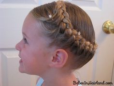 How to Half French Braided Crown from BabesInHairland.com  #frenchbraid #crown #hairstyles