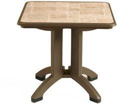 Folding Table, 32 In Square, Bronze Mist