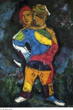 The Walk - Marc Chagall, 1973 ~Repinned Via mloli alborch