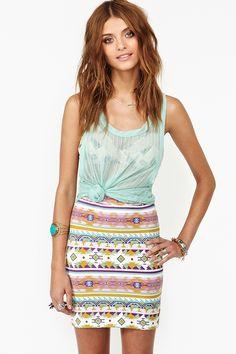 Nasty Gal x MINKPINK Daydream Skirt